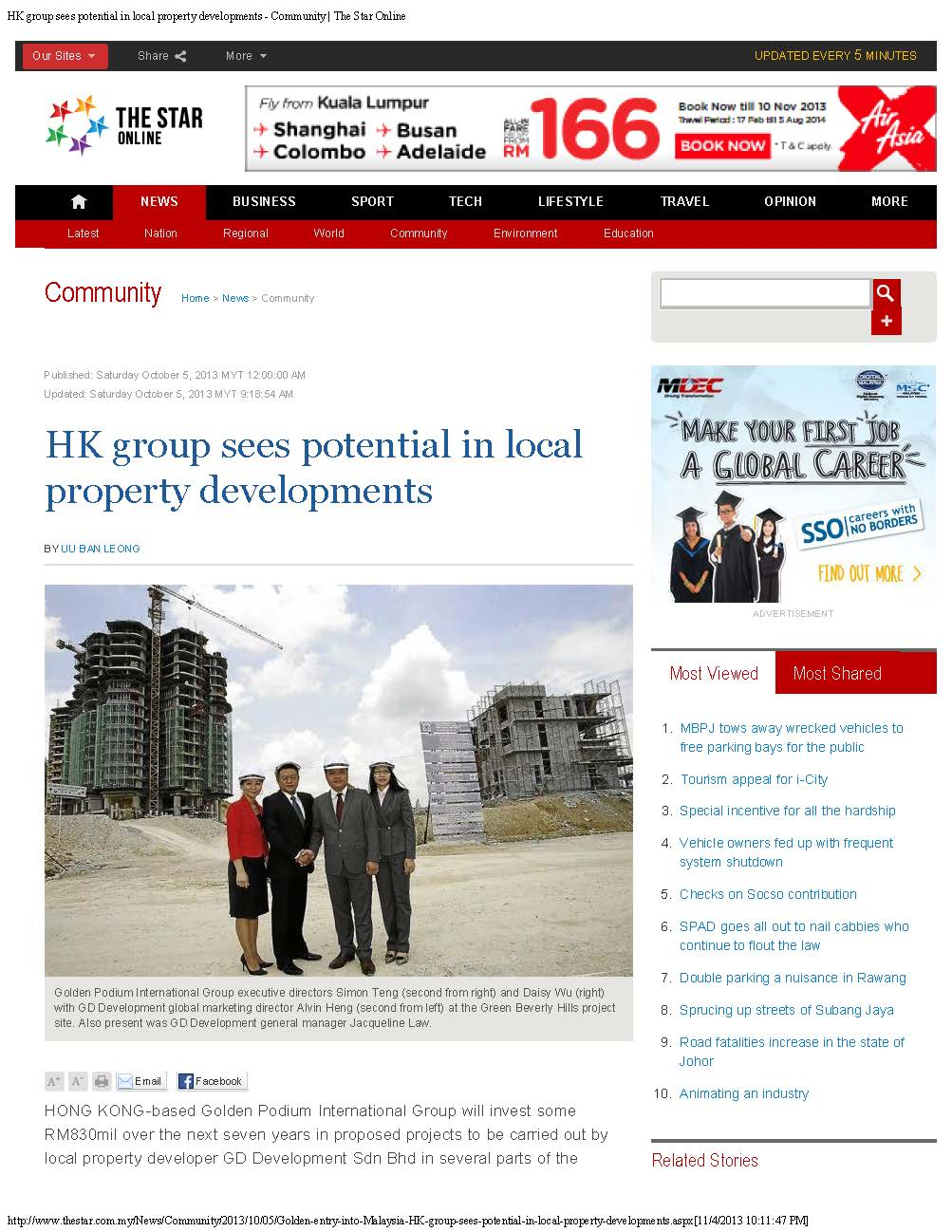 hk group sees potential in local  property developments- the star online- astaka
