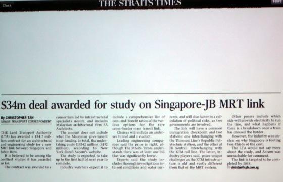 $34M deal awarded for study on Spore - JB MRT Link