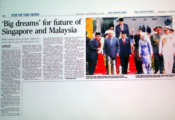 Big dreams for future of singapore and Malaysia