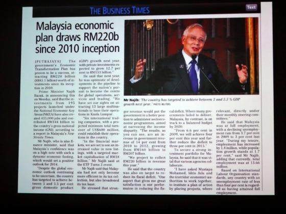 Malaysia economic plan draws RM 220B Since 2010 inception